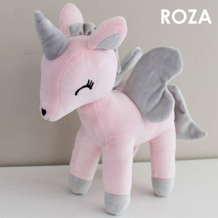 Samorog igrača - plišasta. Prikupni in mehki unicorni iz pliša.