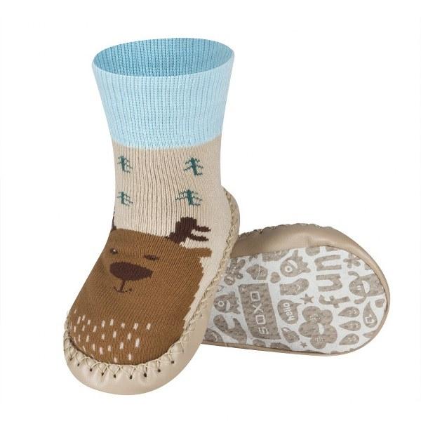 Nogavice z usnjenim podplatom