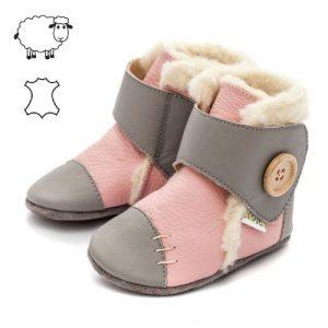 Liliputi otroški usnjeni čevlji - roza
